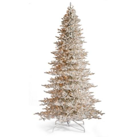 champagne artificial pre lit christmas tree