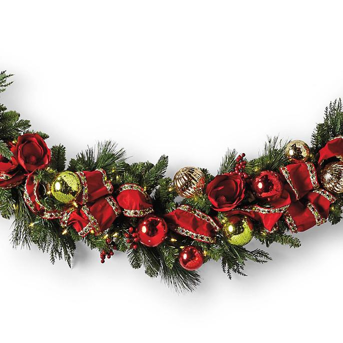 new product 366d8 23027 Jolly Holiday Cordless Garland | Frontgate