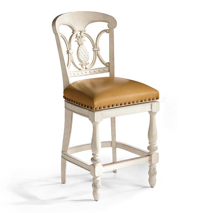 Pleasing Pineapple Swivel Counter Height Bar Stool 26H Seat Theyellowbook Wood Chair Design Ideas Theyellowbookinfo