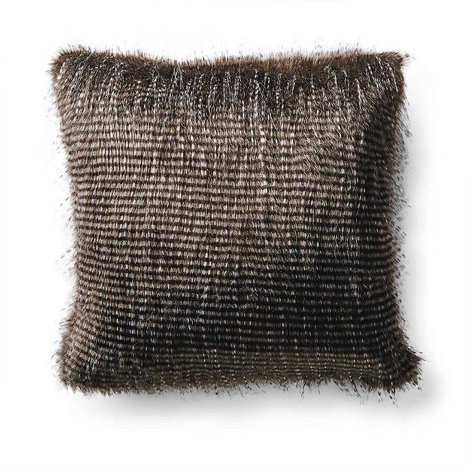 Exotic Faux Fur Square Pillow Frontgate