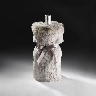 Luxe Faux Fur Wine Bag Frontgate