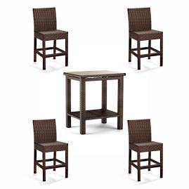 Palermo Set of Two Backed Counter Stools in