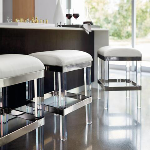 Marvelous Fulham Acrylic Backless Bar Stool Pabps2019 Chair Design Images Pabps2019Com