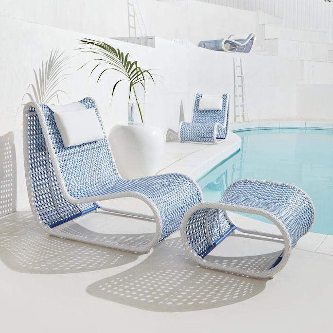 Phenomenal Amalfi Lounge Chair And Ottoman By Porta Forma Frontgate Ncnpc Chair Design For Home Ncnpcorg