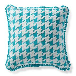 Houndstooth Fun Aruba Outdoor Pillow