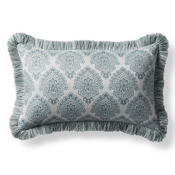 Kashmir Jewel Celadon Outdoor Lumbar Pillow Frontgate