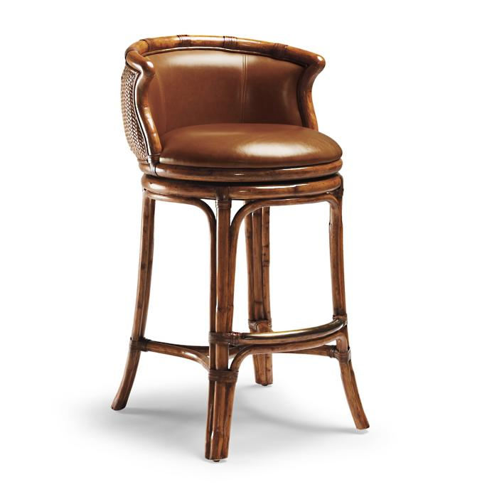 Surprising Bali Woven Swivel Bar Height Bar Stool 30 1 2H Seat Ncnpc Chair Design For Home Ncnpcorg
