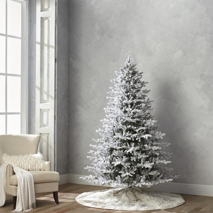 - Flocked Stafford Pine Quick Light Full Profile Tree Frontgate