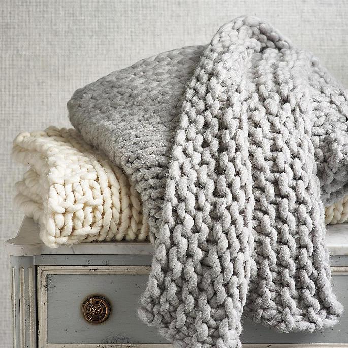 11af4846fd2 Merino Broomstick Knit Throw