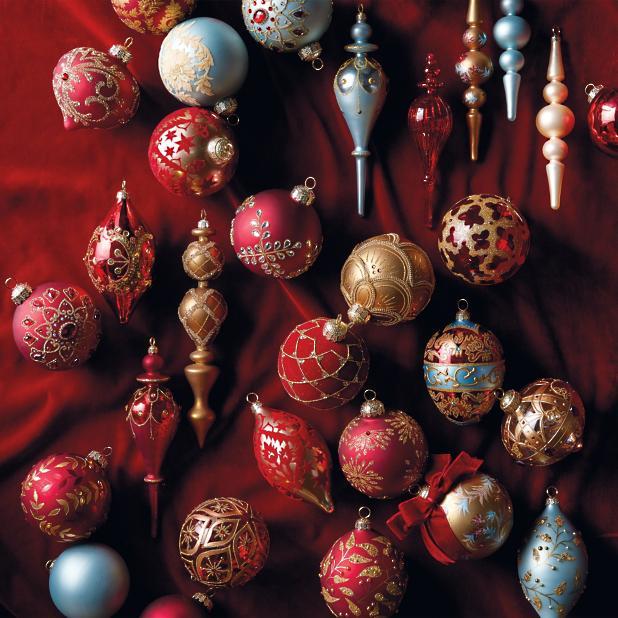 Christmas Ornament Sets.Versailles Parisian 60 Pc Ornament Collection Frontgate