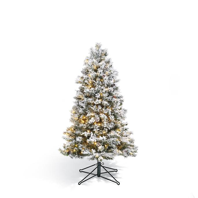 Flocked Norway Spruce Tabletop Artificial Pre Lit Christmas Tree