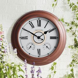 Merveilleux Collins Illuminated Outdoor Clock