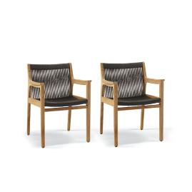 Avoca Set of Two Dining Arm Chairs