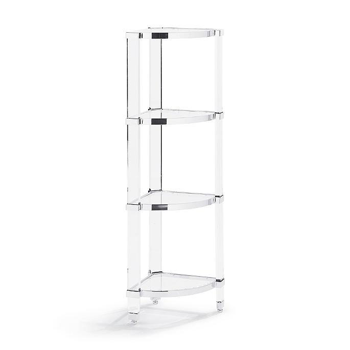 mirage acrylic corner shelf frontgate rh frontgate com