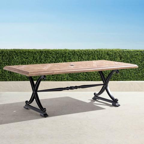 Carlisle Faux Wood Dining Table In Onyx Finish Frontgate - Carlisle dining table