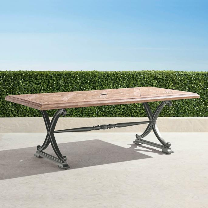 Amazing Carlisle Faux Wood Dining Table In Slate Finish Home Interior And Landscaping Ologienasavecom