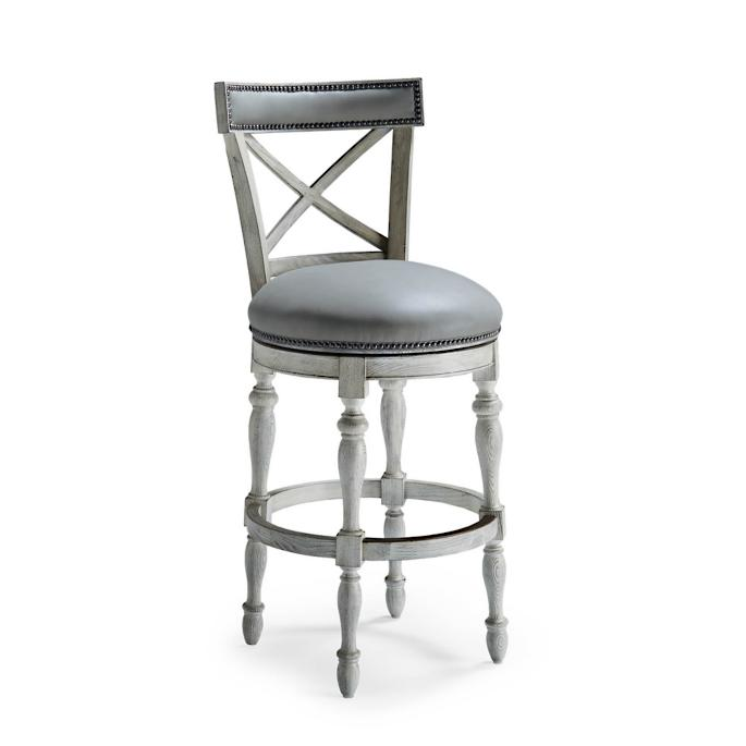 Griffith X Back Swivel Bar Height Bar Stool 30h Seat Frontgate