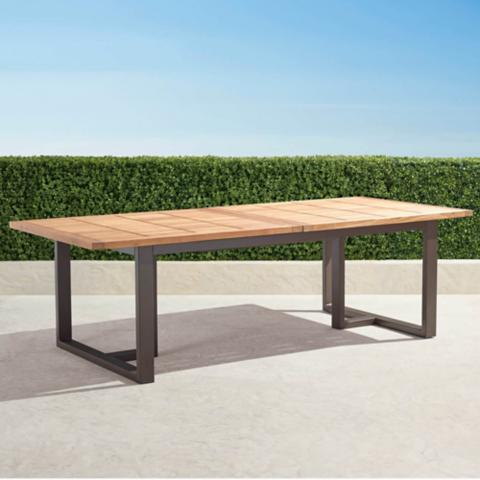 Pierce Extending Teak Dining Table Frontgate - Teak high top table and chairs