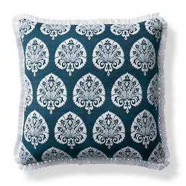 Denby Velvet Indigo Outdoor Pillow