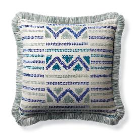 Porto Novo Cobalt Indoor/Outdoor Pillow