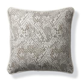 Techno Skin Pewter Outdoor Pillow