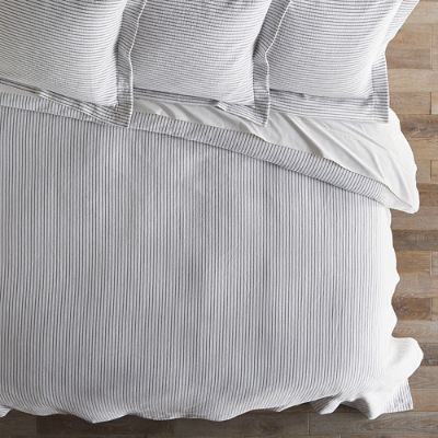 Ticking Stripe Matelasse Coverlet Frontgate