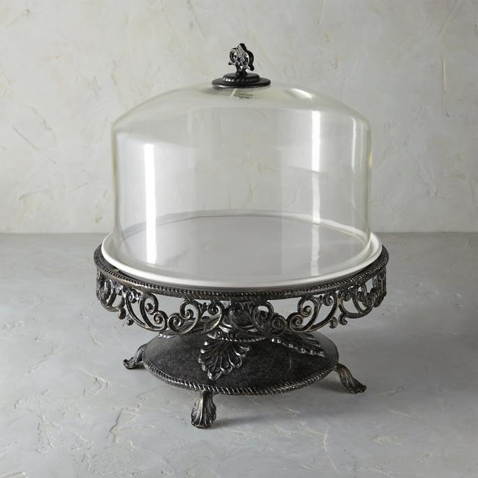Kitchen Classics Cake Stand With Glass Dome Frontgate