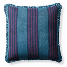 Berwyn Stripe Fuchsia Outdoor Pillow