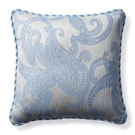 Hampton Paisley Air Blue Outdoor Pillow