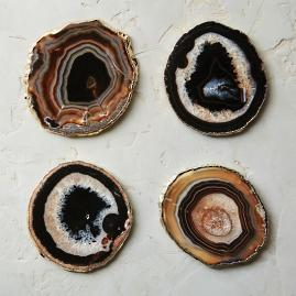 Agate Large Drink Coasters, Set of Four