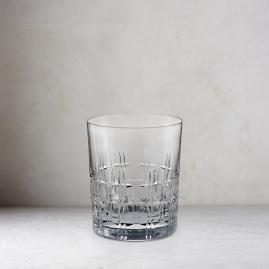Aubrey Cut Crystal Double Old Fashioned Glasses, Set