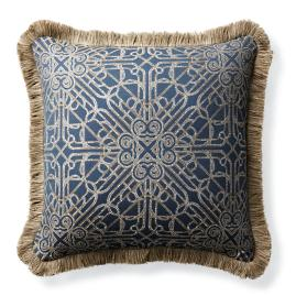 Orsini Gate Navy Outdoor Pillow