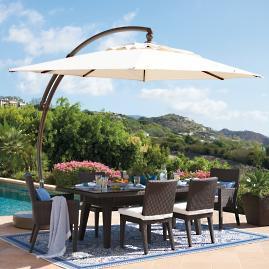 11' Cantilever Round Side Mount Umbrella | Frontgate