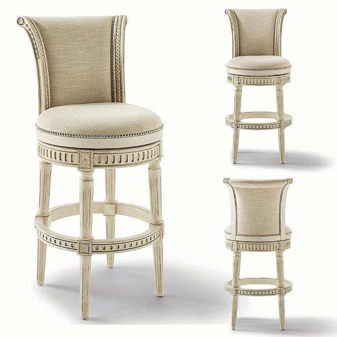 Marvelous Manchester Swivel Bar Height Bar Stool In White Finish 30H Pdpeps Interior Chair Design Pdpepsorg