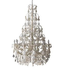 Large Harbor Shell Chandelier