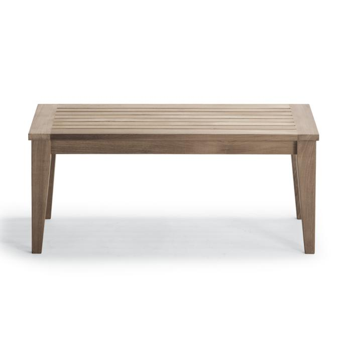 Outstanding Teak Coffee Table In Weathered Finish Gmtry Best Dining Table And Chair Ideas Images Gmtryco