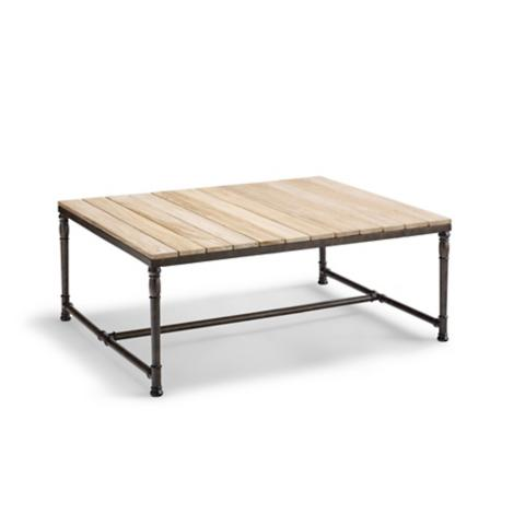 Vista TeakAluminum Coffee Table Frontgate - Teak and aluminium outdoor table