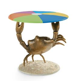 Crab Beach Ball Side Table