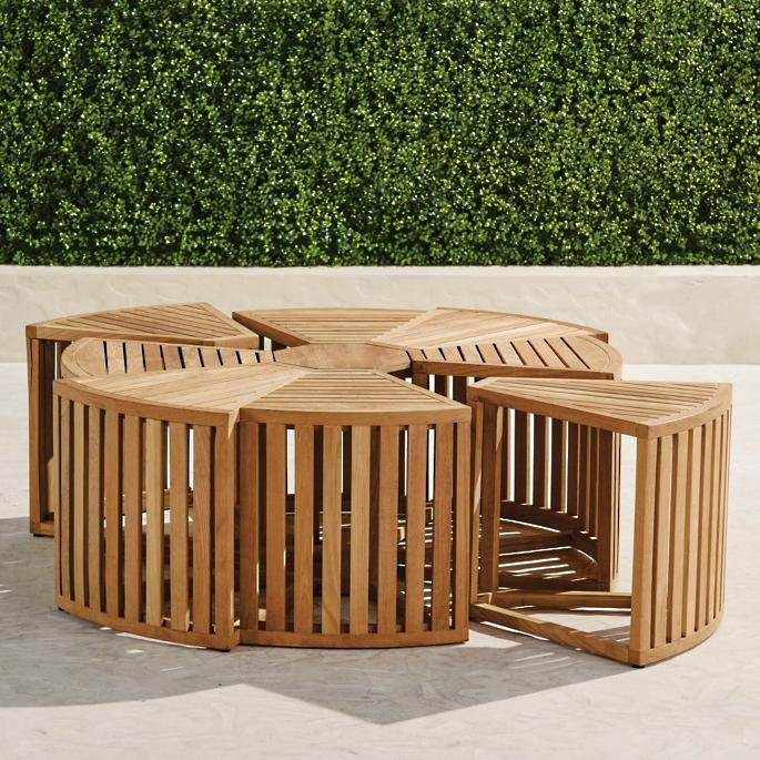 Pasadena Teak Coffee Table Frontgate