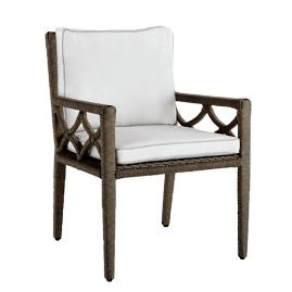Kali Dining Arm Chair with Cushion