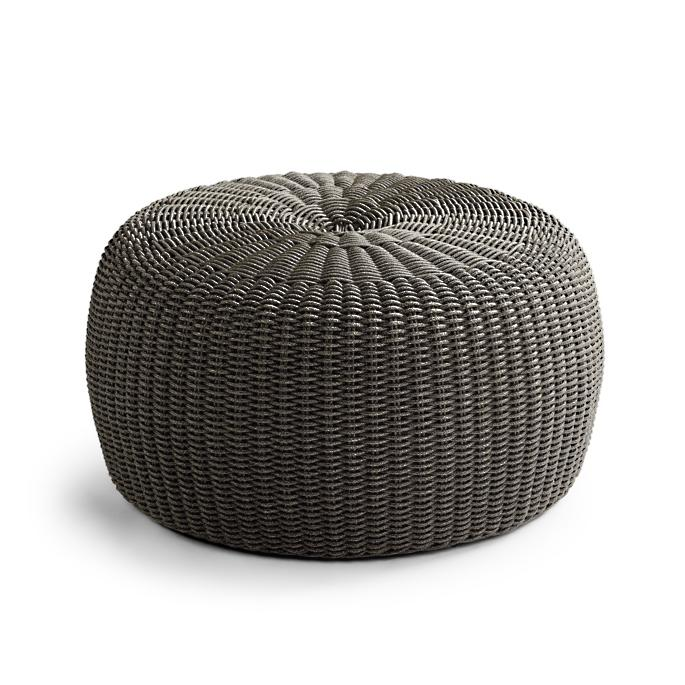 Sensational Hudson Outdoor Pouf Ottoman In Charcoal Frontgate Bralicious Painted Fabric Chair Ideas Braliciousco