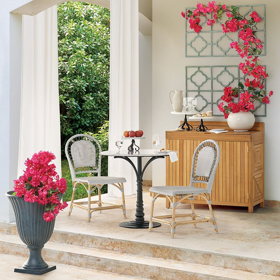 Lacina Bistro table and chairs. #bistroset #frenchfurniture #furniture #outdoorfurniture