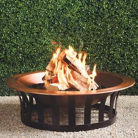 Copper Fire Pit Solid Steel Base