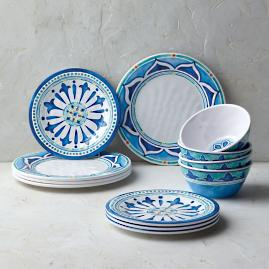Mira Melamine 12-Piece Dinnerware Set