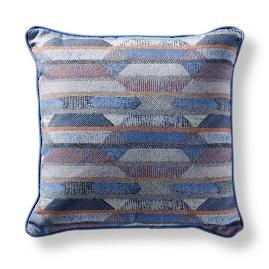 Etched Geo Capri Square Pillow