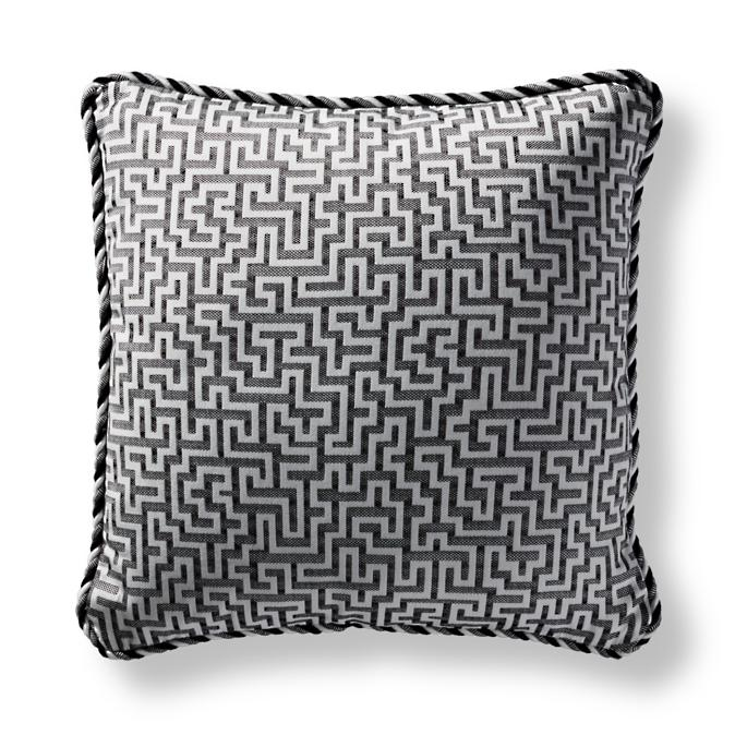 Ionian Key Onyx Square Pillow | Frontgate