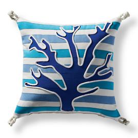 Graphic Coral Outdoor Pillow