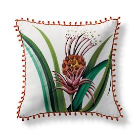 Handpainted L'ananas Pingouin Outdoor Pillow from the New