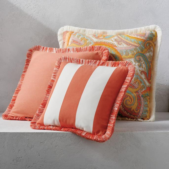 Outdoor Square Pillow With Fringe Frontgate