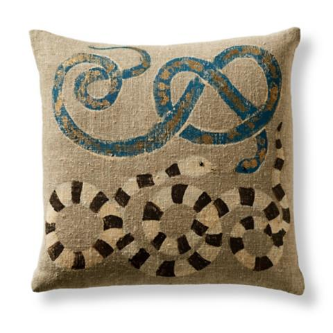 Serpente Decorative Outdoor Pillow | Frontgate